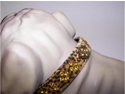 Sahara Jeweled 3/4in Dog Collar 132 Leopard 16in