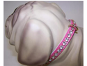 Gidget Vinyl Dog 92P Collar 14in Pink