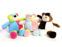 Multi Pet Beau Bear 9 in Assorted Patterns Dog Toy