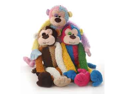 Multi Pet Multi Crew Monkey Assorted Styles /Colors 17in Dog Toy