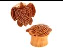 """Pair of Sabo Wood Sea Turtle Plugs: 5/8"""""""