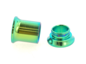One PVD Stainless Steel Double Flared Threaded Flesh Tunnel: 2g, Green (SOLD INDIVIDUALLY. ORDER TWO FOR A PAIR.)