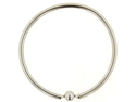 "One Stainless Steel Large Diameter Captive Bead Ring: 8g 2"" (SOLD INDIVIDUALLY. ORDER TWO FOR A PAIR.)"