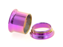 "One PVD Stainless Steel Double Flared Threaded Flesh Tunnel: 1/2"", Light Purple (SOLD INDIVIDUALLY. ORDER TWO FOR A PAIR.)"