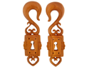 Pair of Sabo Wood Lock Boxes: 00g