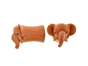 Pair of Sabo Wood Pet Elephant Plugs: 2g