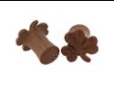 Pair of Sabo Wood Shamrock Plugs: 2g
