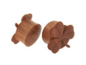 Pair of Sabo Wood Shamrock Plugs: 7/8""