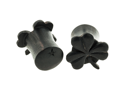 Pair of Arang Wood Shamrock Plugs: 00g