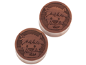 Pair of Sabo Wood Wolf Man Plugs: 7/8""