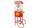 FunTime Sideshow FT454CR 4 oz Red Popcorn Popper Machine Cart
