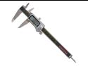 "Carrera Precision 6"" Titanium Digital LCD Vernier Micrometer Caliper - CP8806-T"