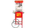 FunTime 8oz Red Popcorn Popper Machine Maker Cart Vintage Style- FT862CRS
