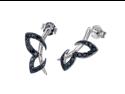 Sterling Silver Black Diamond Stud Earrings (1/3 CT)