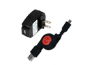 Kyocera Torque Retractable Synch & Charge USB Travel Kit (Retractable USB Cable & AC Adapter)