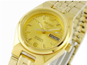Seiko SYMK36 Seiko 5 Gold Tone Stainless Steel Case and Bracelet Gold DIal Day and Date