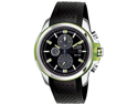 Citizen CA0427-08E Drive Chronograph Stainless Steel Case Rubber Bracelet Black Dial Date Display