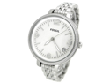 Fossil Women's Heather ES3180 Silver Stainless-Steel Quartz Watch with White Dial