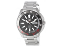 Seiko SRP361 Stainless Steel Case and Bracelet Black Tone Dial Day and Date Displays