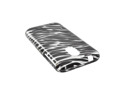 Black Zebra On Silver Hard Plastic Case Snap On Cover For Samsung Epic 4g Touch