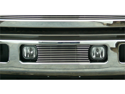 T-REX 2005-2007 Ford Super Duty, Excursion Bumper Billet Grille Insert - Fits between factory Fog Lights (10 Bars) POLISHED 25562