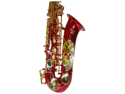 Merano E Flat Red Alto Saxophone with Case