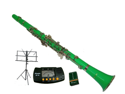 Merano B Flat GREEN Clarinet with Carrying Case+Metro Tuner+Music Stand+11 Reeds