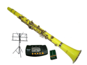 Merano B Flat YELLOW Clarinet with Carrying Case+Metro Tuner+Music Stand+11 Reeds