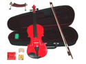 "Merano 12"" Red Student Viola with Case, Bow+2 Sets Strings+2 Bridges+Pitch Pipe+Rosin+Shoulder Rest"