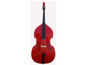 Merano 1/2 Size Red Student Double Bass with Carrying Soft Bag, Bow + Free Rosin