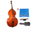 Merano MB10 3/4 Size Natural Student Double Bass with Carrying Soft Bag, Bow+2 Sets Strings+Rosin