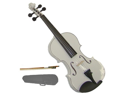 Merano 4/4 Size White Violin with Case, Bow + Free Rosin