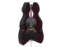 Merano MC150BK 4/4 Size Black Cello with Hard Case, Bag and Bow