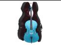 Merano MC150DBL 1/2 Size Blue Cello with Hard Case, Bag and Bow