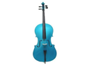 Merano MC100DBL 1/16 Size Blue Cello with Bag and Bow