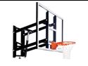 """Goalsetter GS72 Wall-Mount Adjustable Basketball Hoop with 72"""" Acrylic Board"""