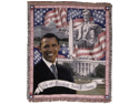 "President Barack Obama Tapestry Throw Blanket 50"" x 60"""