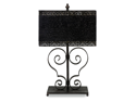 "31"" Black Damask-Style Arabesque Table Accent Lamp"