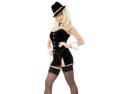 Women's Sexy Playboy Gangsta Lady Adult Halloween Costume Size XS (2-4) #400201