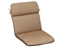 Outdoor Patio Furniture High Back Chair Cushion - Textured Tan Brown Sunbrella