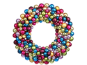 "24"" Jewel-Tone Multi-Color Shatterproof Christmas Ball Ornament Wreath"