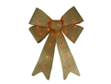 "20"" x 15"" Lighted Glittery Gold Christmas Bow Decoration - 20 Gold Lights"