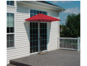 9' Half Canopy Patio Market Umbrella: Red - Olefin