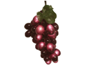 Wine Lovers Purplish Burgundy Grape Christmas Light Set - 5 Clusters 100 Lights