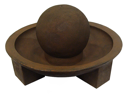 "31"" Brown Ball Pool Outdoor Garden Water Fountain"