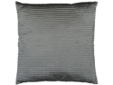 "22"" Charcoal Gray Shiny Ribbed Decorative Throw Pillow"