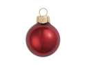 """40ct Pearl Burgundy Red Glass Ball Christmas Ornaments 1.25"""" (30mm)"""