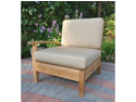 """35"""" Natural Teak Sectional Right Arm Seating Outdoor Patio Chair w/ Red Cushions"""