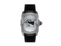 Aqua Master Men's Diamond-Cut Rectangular Bubble Loop Diamond Watch with Poker Royal Flush Dial