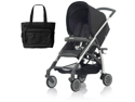 Inglesina AG54E5PRBUS AVIO Stroller with Diaper Bag - Pirate  Black
